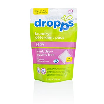 Amazon.com: dropps Baby detergente HE PACS 20 cargas (2 ...
