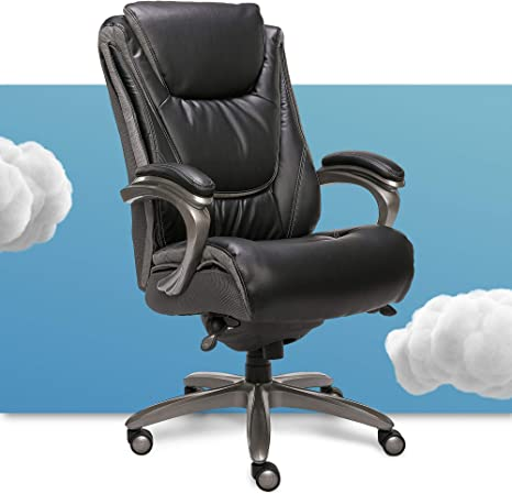 Amazon Com Serta Big And Tall Smart Layers Executive Office Chair With Comfortcoils Ergonomic Computer Chair With Layered Body Pillows Black Bonded Leather Furniture Decor