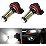 AHEVO H11 1500 Lumens Extremely Bright 158-EX Chipsets H8 H11 H16 LED Bulbs with Projector for DRL or Fog Lights, Xenon White