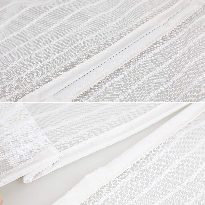 Cualquier Tama/ño Bianco 140x110 CM Sin Punz/óN con Cierre Magn/éTico Cortina Anti Mosquitos para Ventanas Batientes WxH WISKEO Mosquitera Ventana Magnetica Ajustable