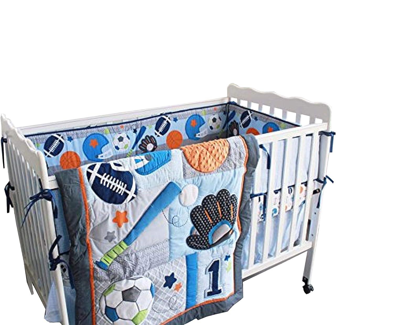 Amazon.com: New 7 piezas Baby Boy Deporte Cuna Juego de cama ...