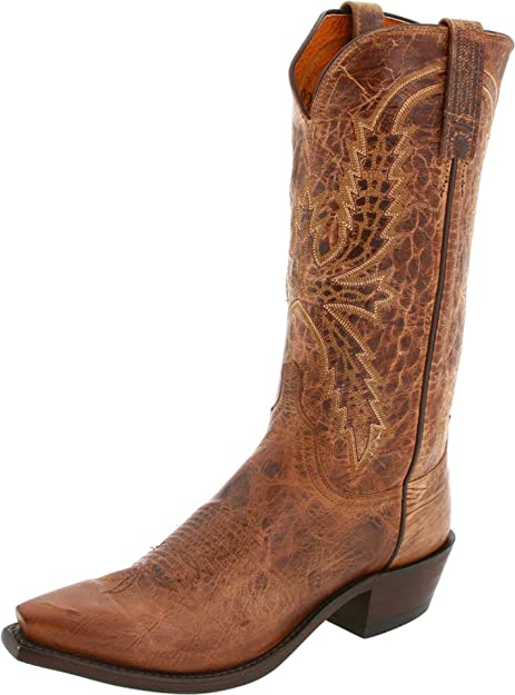 Men/'s 1883 By Lucchese Western Boots N1547 5//4 Tan Mad Dog Goat Leather