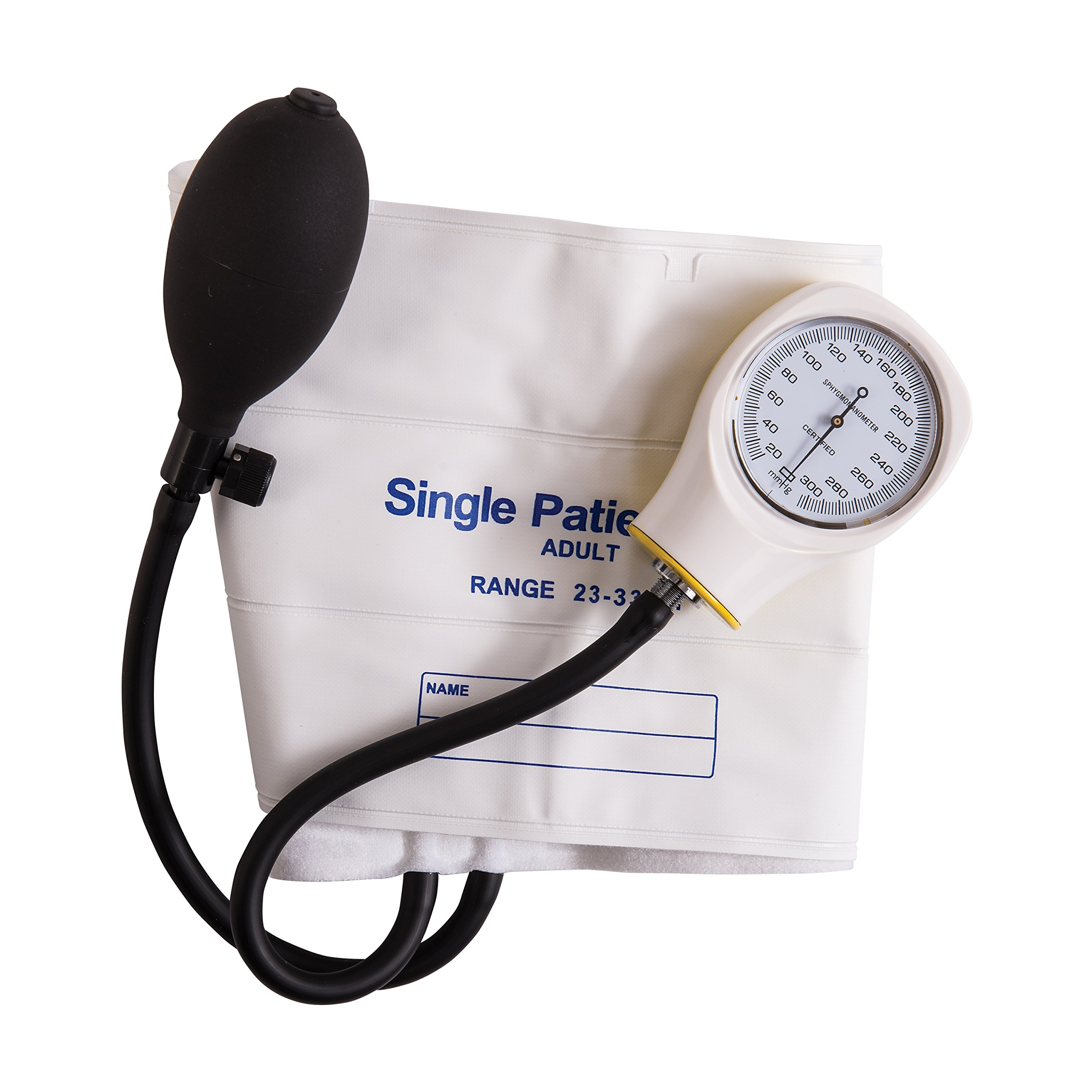 MABIS Disposable Sphygmomanometer Manual Arm Blood Pressure Cuffs, Single Use, Adult, Box of 5, White by Mabis (Image #2)