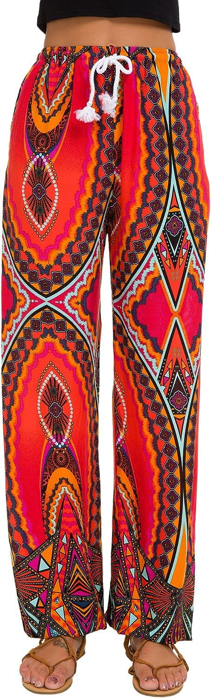 Urban GoCo Femmes Boho Harem Pantalon Dames Floral Imprimer /Élastiqu/ée Taille Pantalon