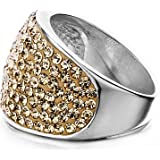Shimla Jewellery Shimla Solid Stainless Ring with Pave Rose Gold Crystals