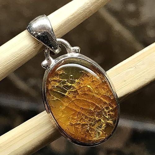 Solid 925 Sterling Silver Genuine Orange Amber Gemstone Stud Earrings 7mm