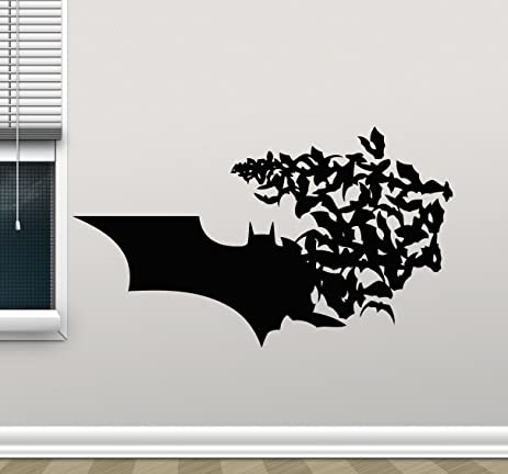 Batman Wall Decal Superhero Vinyl Sticker Marvel Comics Wall Art Design  Housewares Kids Room Bedroom Decor