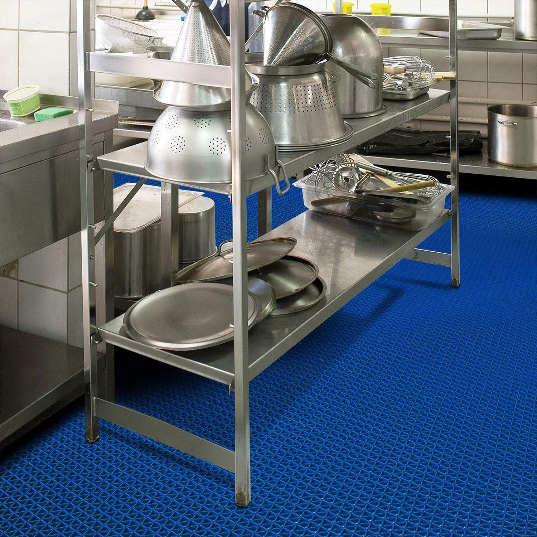 viele Gr/ö/ßen stark rutschhemmend f/ür Nassbereiche und Arbeitspl/ätze 120x1500 cm Grau Hygienematte Z-Mat