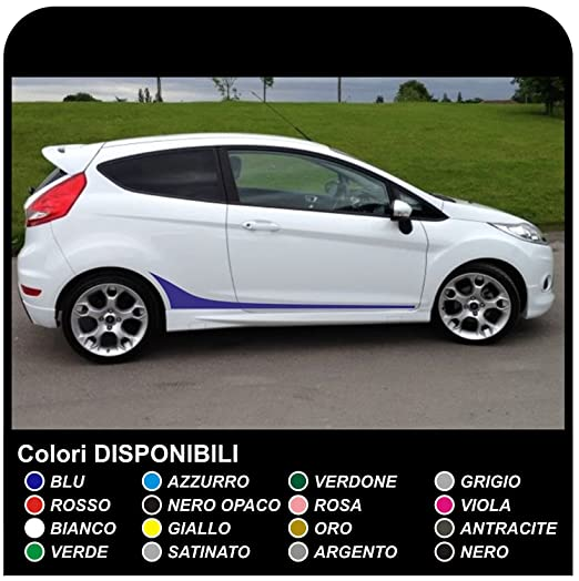 Stickers For Fiesta Side Strips Graphics Side Sides Full Stripes - Graphics for the side of a car