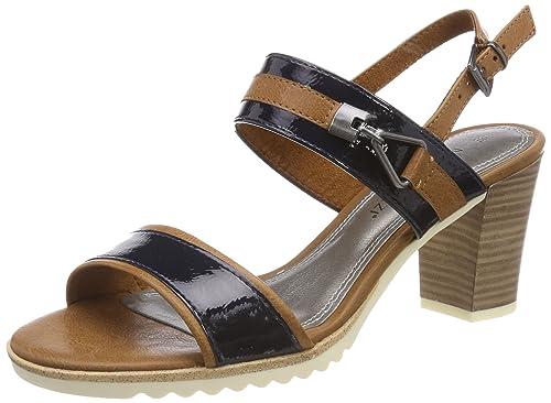 66754d37c0a MARCO TOZZI Women s s 28704 Sling Back Sandals Blue  Amazon.co.uk ...