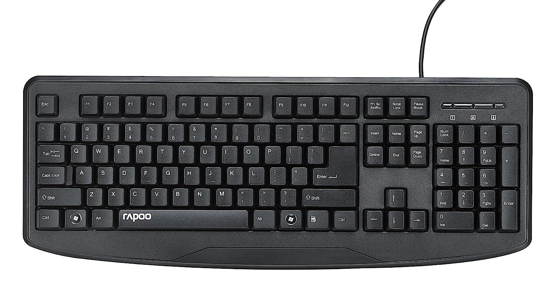 Rapoo Wired Keyboard (Black)