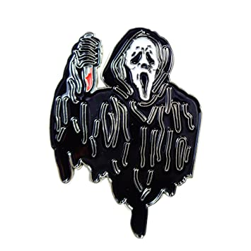 Charming Scream Ghost Knife Gory Horror Movie Enamel Pin Lapel