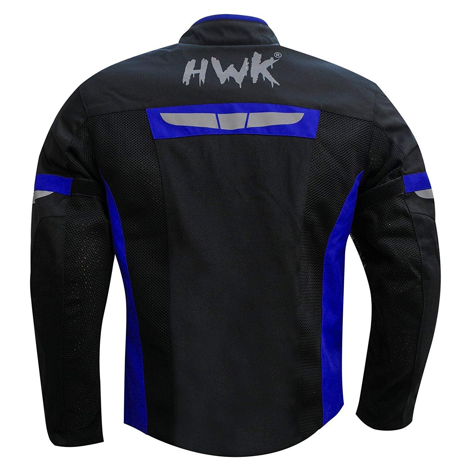 HWK Mesh Motorcycle Jacket Riding Air Motorbike Jacket Biker CE Armored Breathable (Small, Blue) by HHR (Image #6)