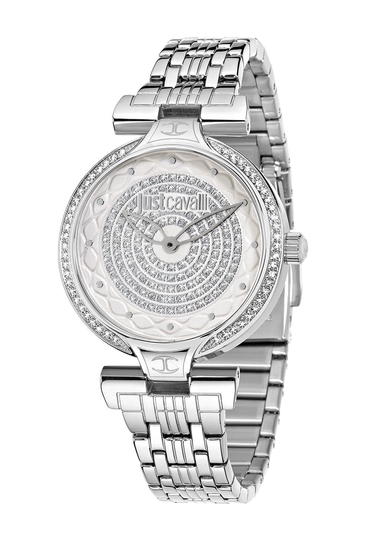 Just Cavalli Damen-Armbanduhr Analog Quarz Edelstahl R7253579504