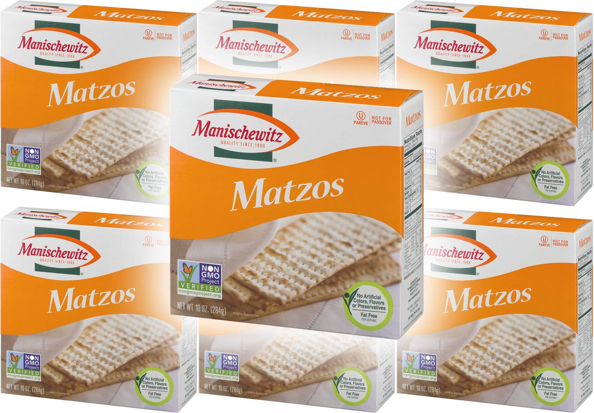 Manischewitz unsalted matzo, 10 oz (6-Pack) by Manischewitz