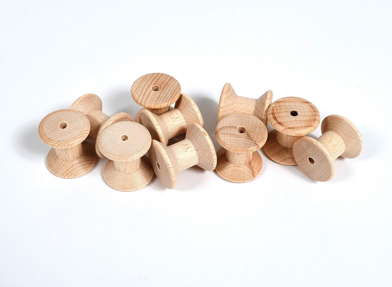 Carretes de madera Juego de 10