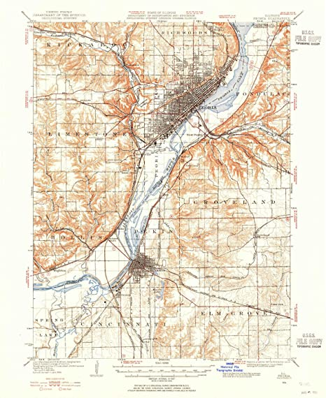 Amazon Com Yellowmaps Peoria Il Topo Map 1 62500 Scale 15 X 15