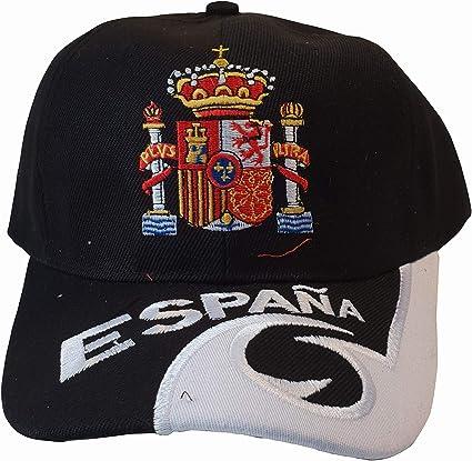 Q&J Gorra con Escudo de España Color Negro - Talla Adulto Ajustable - Polyester 100%: Amazon.es: Deportes y aire libre