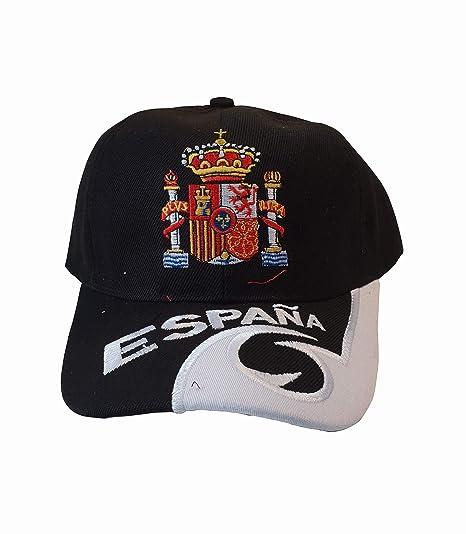 Q&J Gorra con Escudo de España Color Negro - Talla Adulto ...