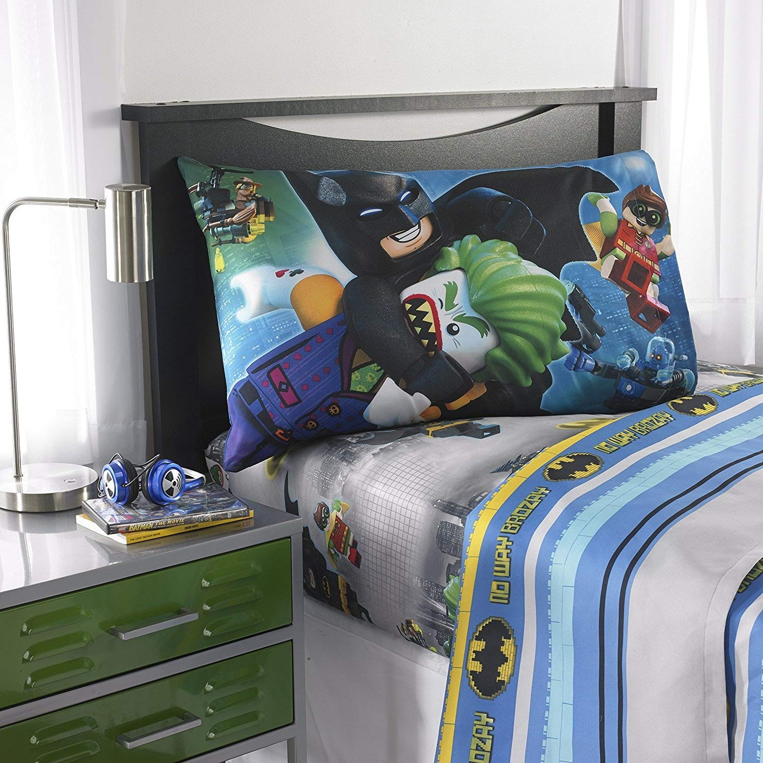 LEGO Batman Movie Microfiber Sheet Set with Pillow Cases - Full