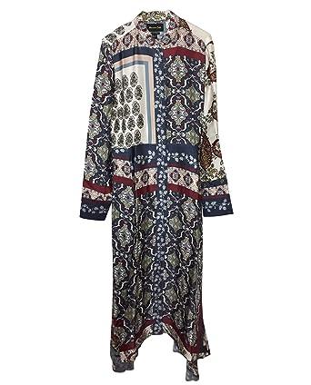 joli design choisissez le dégagement 60% pas cher Massimo Dutti Femme Robe imprimé Foulard 6669/835 (34 EU ...
