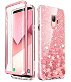 Samsung Galaxy S9 Case, [Built-in Screen Protector] i-Blason [Cosmo] Full-Body Glitter Sparkle Bumper Protective Case for Galaxy S9 (2018 Release) (Pink)