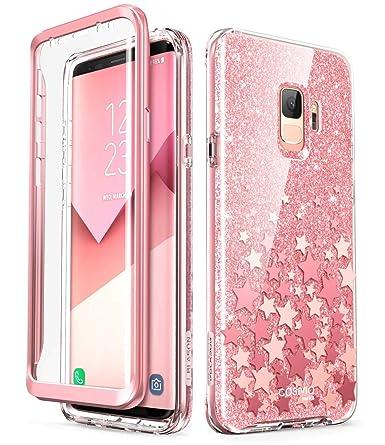 newest e5ba7 ca653 i-Blason Cosmo Series Designed for Galaxy S9 Case, Full-Body Glitter Bumper  Protective Case with Built-in Screen Protector for Samsung Galaxy S9 2018  ...