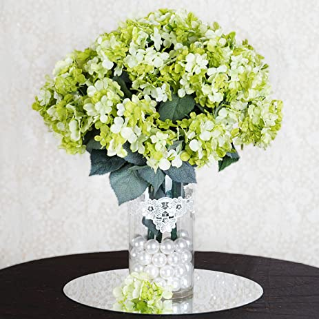 Amazon balsacircle 28 lime green silk hydrangeas 4 bushes balsacircle 28 lime green silk hydrangeas 4 bushes artificial flowers wedding party centerpieces arrangements mightylinksfo Images