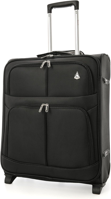 Aerolite - Maleta de Viaje Ligera Easyjet y British Airways BA con Capacidad máxima para Cabina (56 x 45 x 25 cm, 2 Ruedas), Color Negro