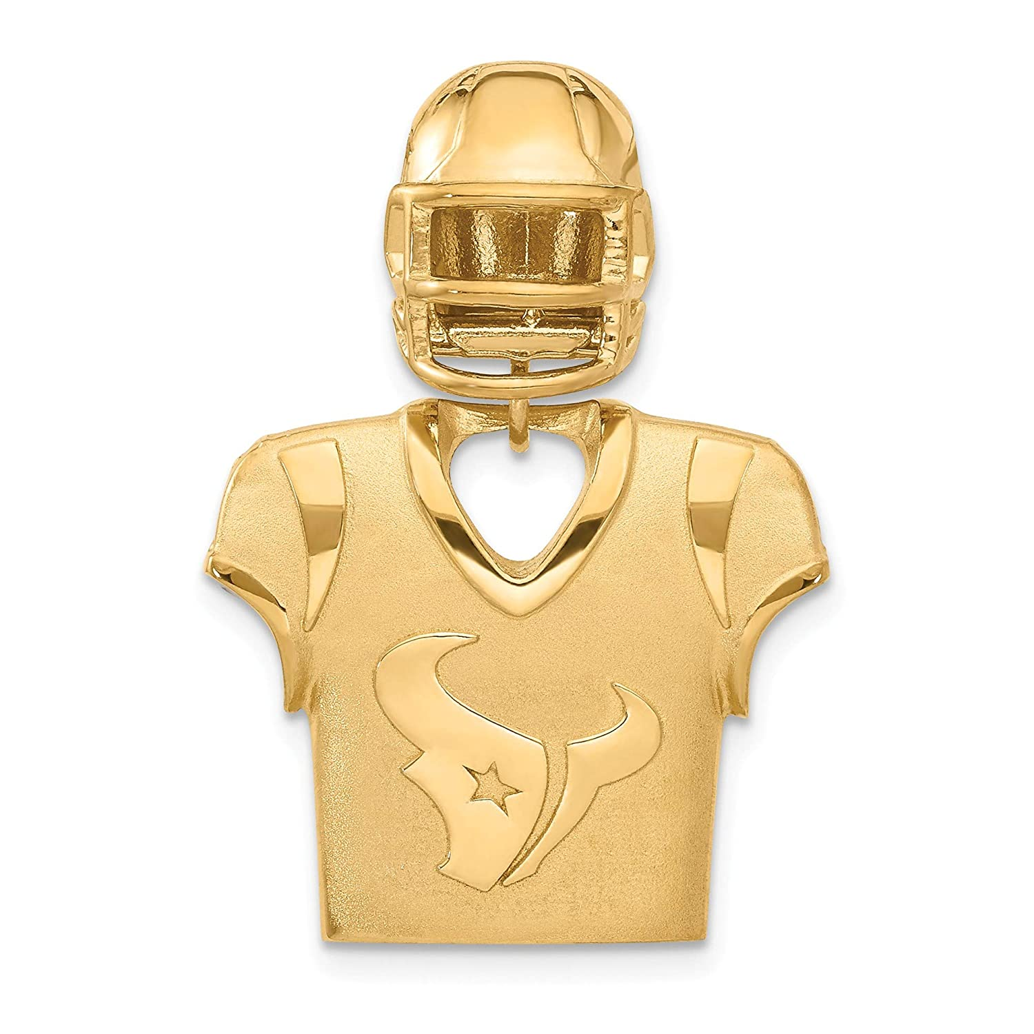 Kira Riley Gold Plated Houston Texans Jersey /& Helmet Pendant for Chains and Necklaces