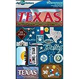 Reminisce Jet Setters 2 3-Dimensional Sticker, Texas