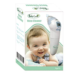 Baby Cove Nasal Aspirator w/ Music (Portable) Small Nose Cleaner Vacuum and Snot Sucker | Infant, Newborn, Toddler Safe | Adjustable Strength, Battery Powered Use