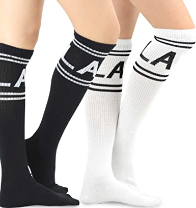 KNEE HIGH FASHION TROUSER SOCKS  9-11 REGULAR  one pack of 2 different kinds