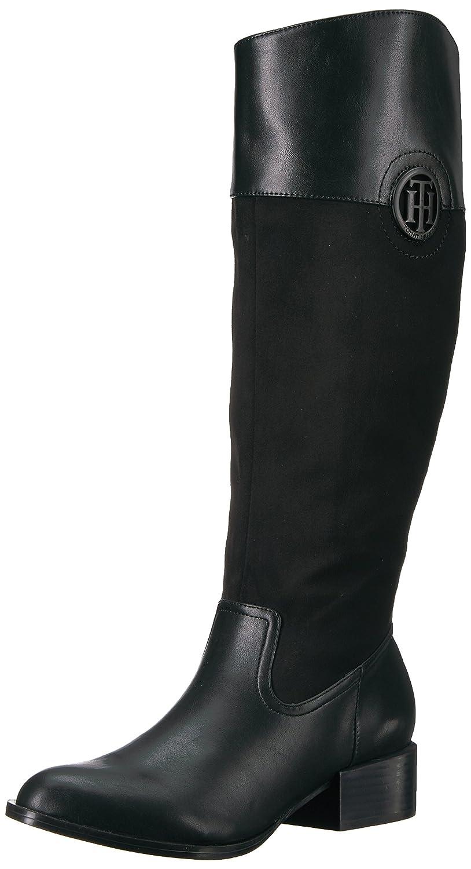 Tommy Hilfiger Women's Madelen Equestrian Boot B06XVDJ553 8.5 B(M) US|Black