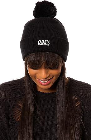Gorros 100030036 Obey Pom Pom Nieve Worldwide Black negro talla ...