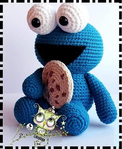 MONSTRUO DE LAS GALLETAS AMIGURUMI PERSONALIZABLE (Bebé, crochet, ganchillo, muñeco, peluche