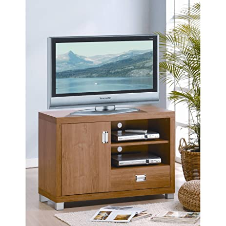Home Furniture TV Stand Maple Fits Flat Screen TVs Up To 32u0026quot; One Door  With