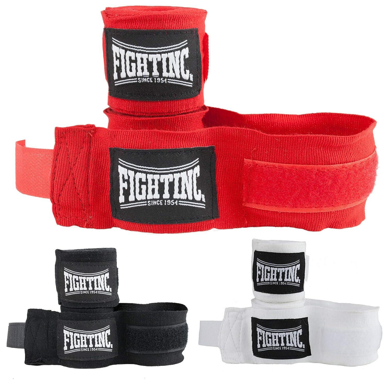 Fightinc Boxbandagen Pro 3,5m 350 cm elastisch schwarz rot wei/ß Weiss Boxen Kickboxen Kampfsport Muay Thai