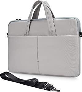 11.6-13 Inch Laptop Case for Lenovo Chromebook C340 C330/Flex 11/ThinkPad Yoga 11e, Surface Pro X/7, Samsung 11.6 Chromebook, HP Chromebook 11.6/HP Stream 11 Sleeve Shoulder Bag(Light Grey)