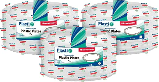 12oz White Plastic Disposable Bowls with Handle 15 Pack Bowl Party Event BBQ