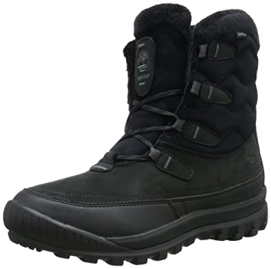 Timberland Women's Woodhaven Mid WP Insulated Winter Boot, Black, ...