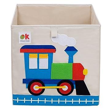 Captivating Olive Kids Train Storage Cube