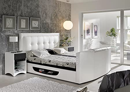 Super King Size White Bowburn TV Bed *Exclusively at the TV Bed ...