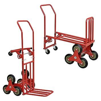 Tec] Carro de Transporte multifunción y Carretilla 2 en 1 - Rojo: Amazon.es: Hogar