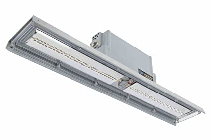 explosion proof low profile linear led light pendant mounted