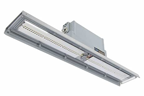 Explosion proof low profile linear led light pendant mounted 3600 lumens class 2