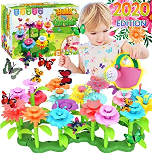 Innorock Flower Garden Building Toy for Kids - STEM Toys Pretend Play Gardening Activity Playset for Girls and Boys - Flowers Stacking Learning Games Gift for Toddlers Age 3 4 5 6 7 Years Old