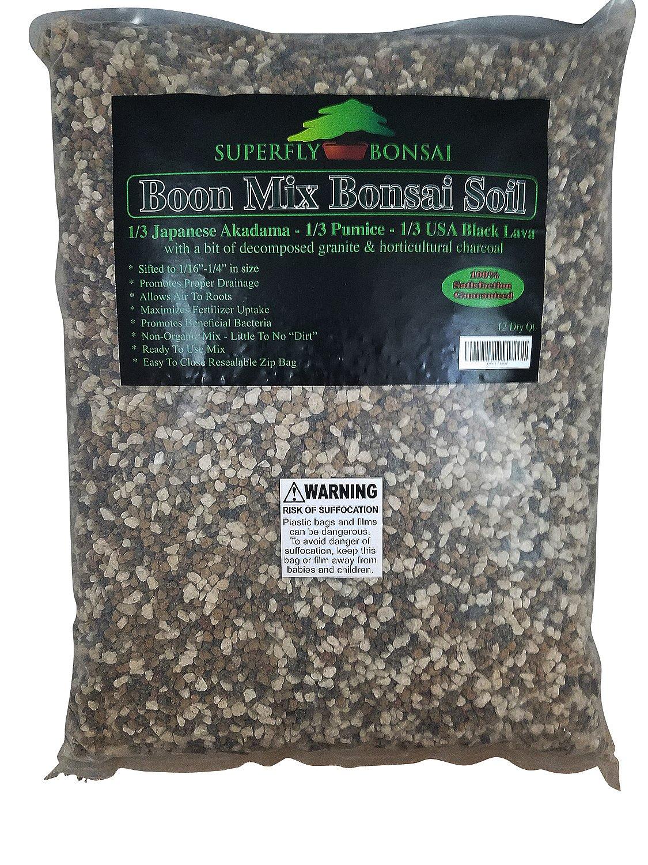 Boon Bonsai Soil Mix ''Boon Mix'' - Inorganic Substrate With Pumice, Lava and Akadama (6 Dry Quarts) by Superfly Bonsai