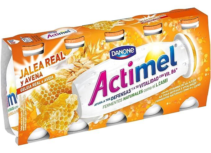 Actimel Jalea Real y Avena Yogur - Paquete de 5 x 100 gr - Total: