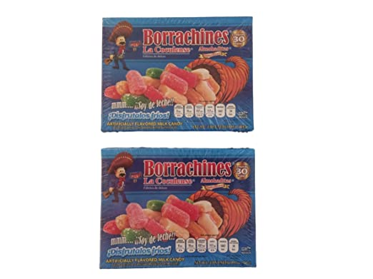 Amazon.com : La Coculense Borrachitos Mexican Milk Candy, Small, 30-Pcs Per Pack (Pack of 2) : Grocery & Gourmet Food